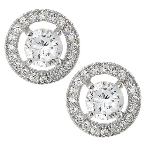 Tressa Collection Round Cut Cubic Zirconia Stud Earrings