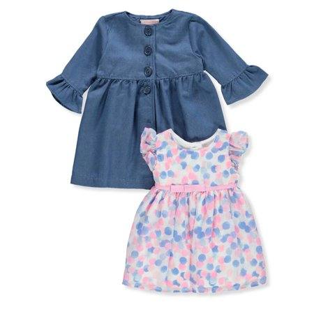 Youngland Baby Girls' 2-Piece Dress Set Outfit