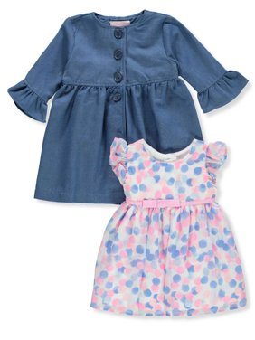 37dc105449de7 Product Image Youngland Baby Girls' 2-Piece Dress Set Outfit