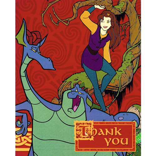 Quest for Camelot Vintage 1998 Thank You Notes w/ Envelopes (8ct)