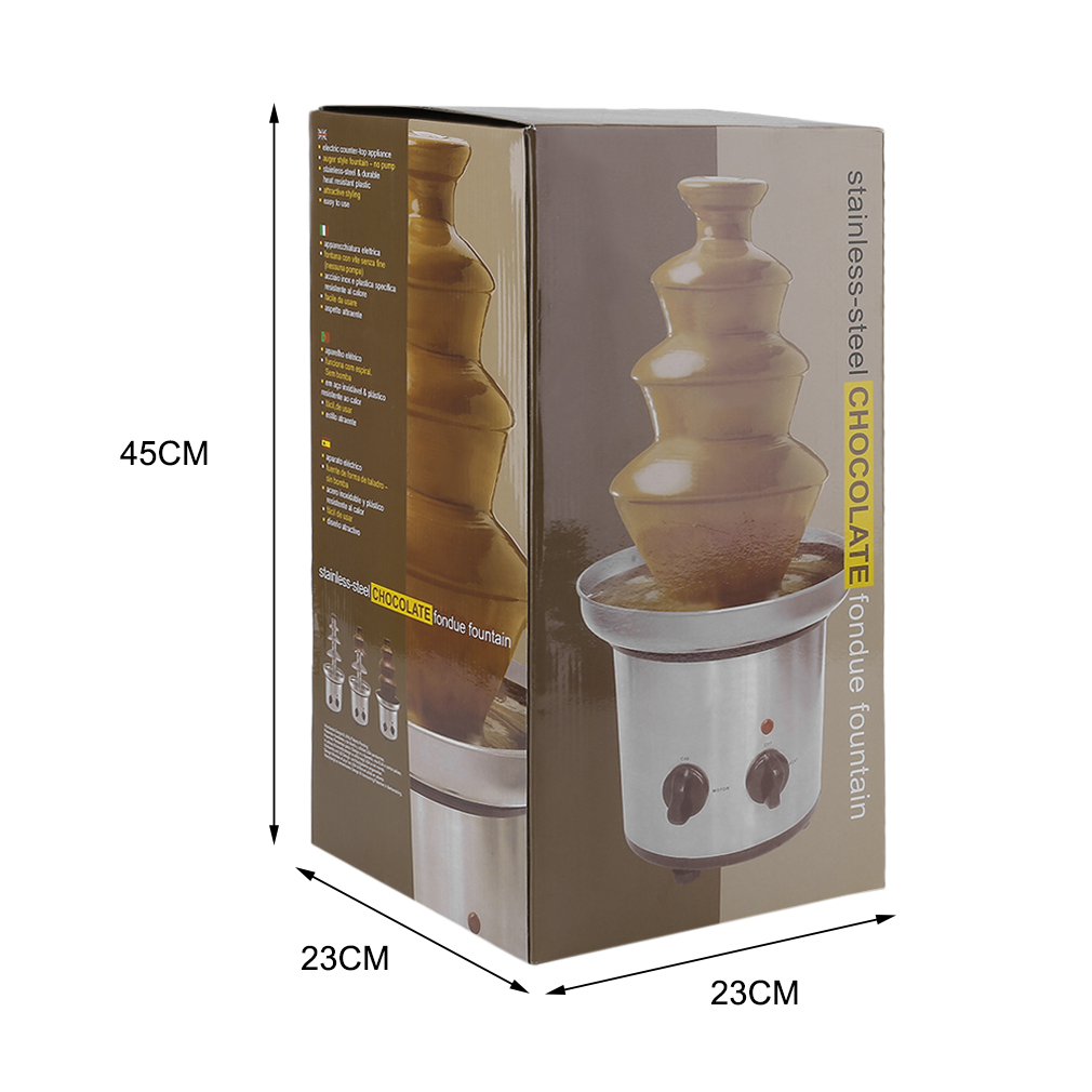 4 Tiers Commercial Stainless Steel Event Wedding Children Birthday Home Chocolate Fondue Waterfall Fountain... by TRYIF