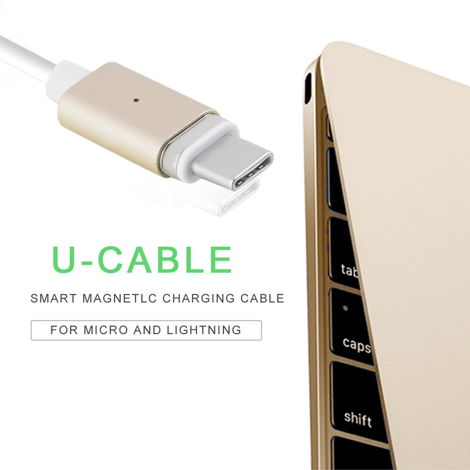 Magnetic USB 3.1 Type-C Charging Cable Adapter Charger For LG Oneplus3