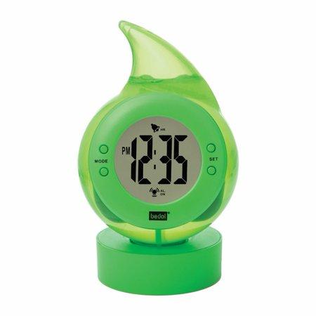 the water drop powered digital alarm clock alternative energy. Black Bedroom Furniture Sets. Home Design Ideas