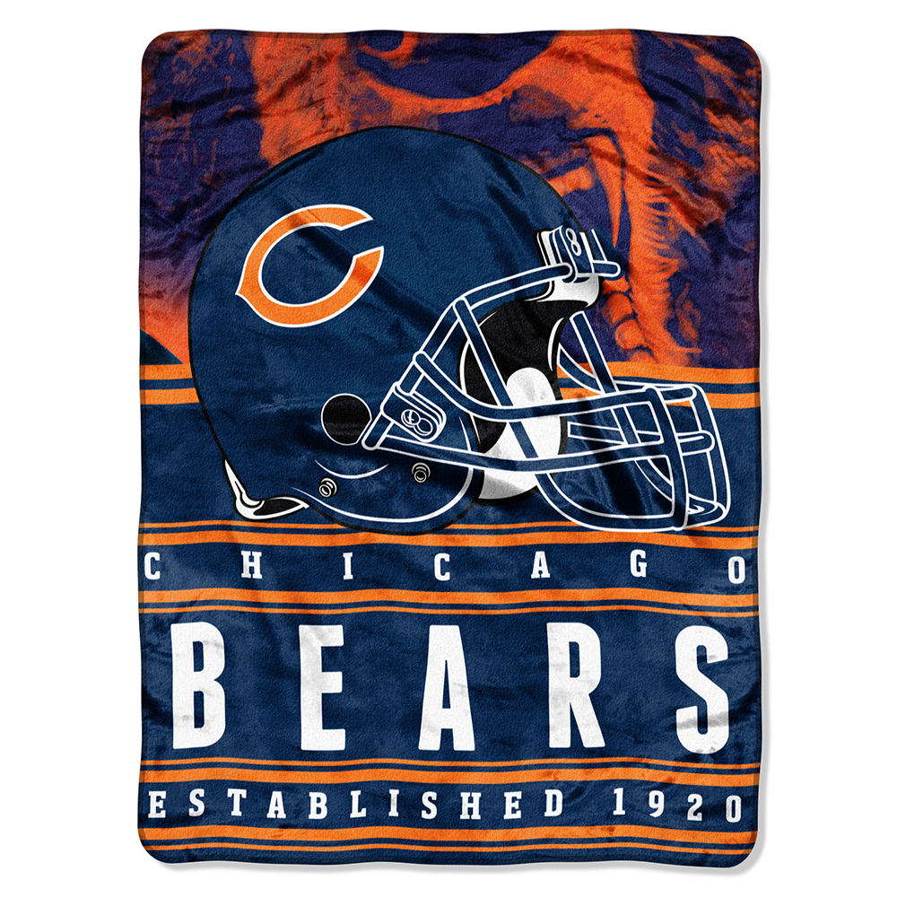 "NFL Chicago Bears ""Stacked"" 60"" x 80"" Silk Touch Throw"