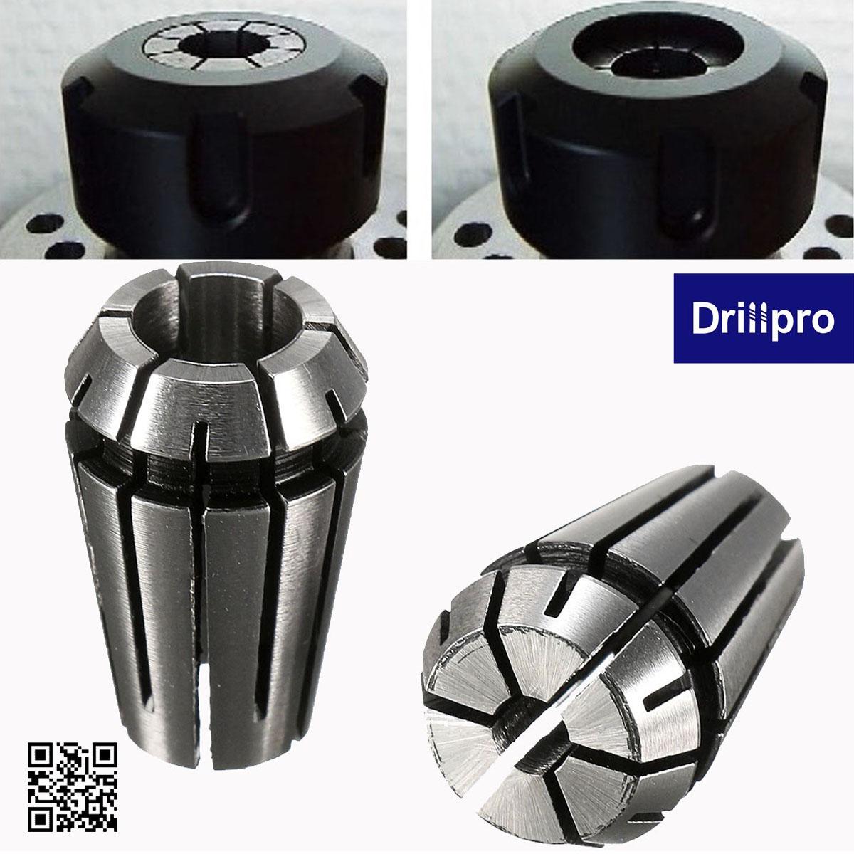 """Drillpro 2pcs ER11 1//4/"""" 1//8/"""" Inch Spring Collet Set for CNC Milling Lathe"""
