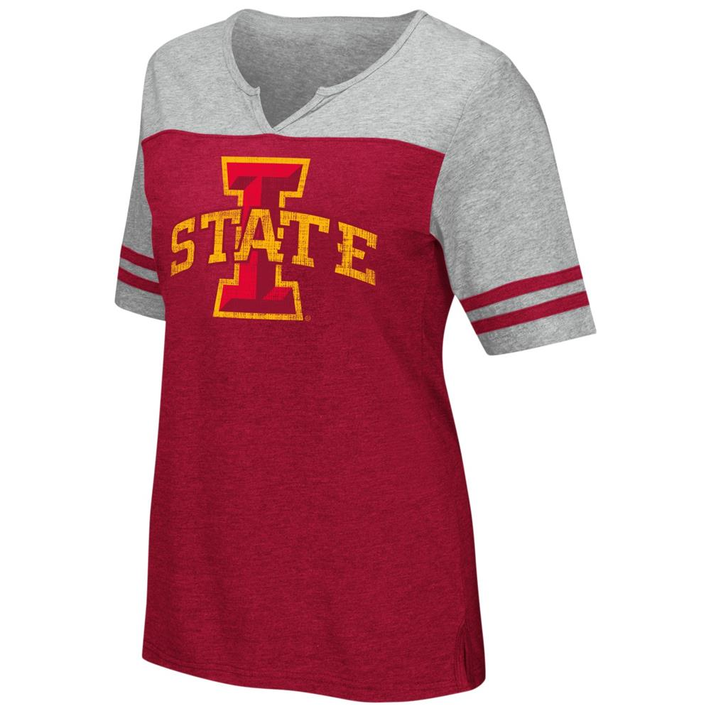 Iowa State Cyclones V-Neck Tee On A Break Fashion T-Shirt