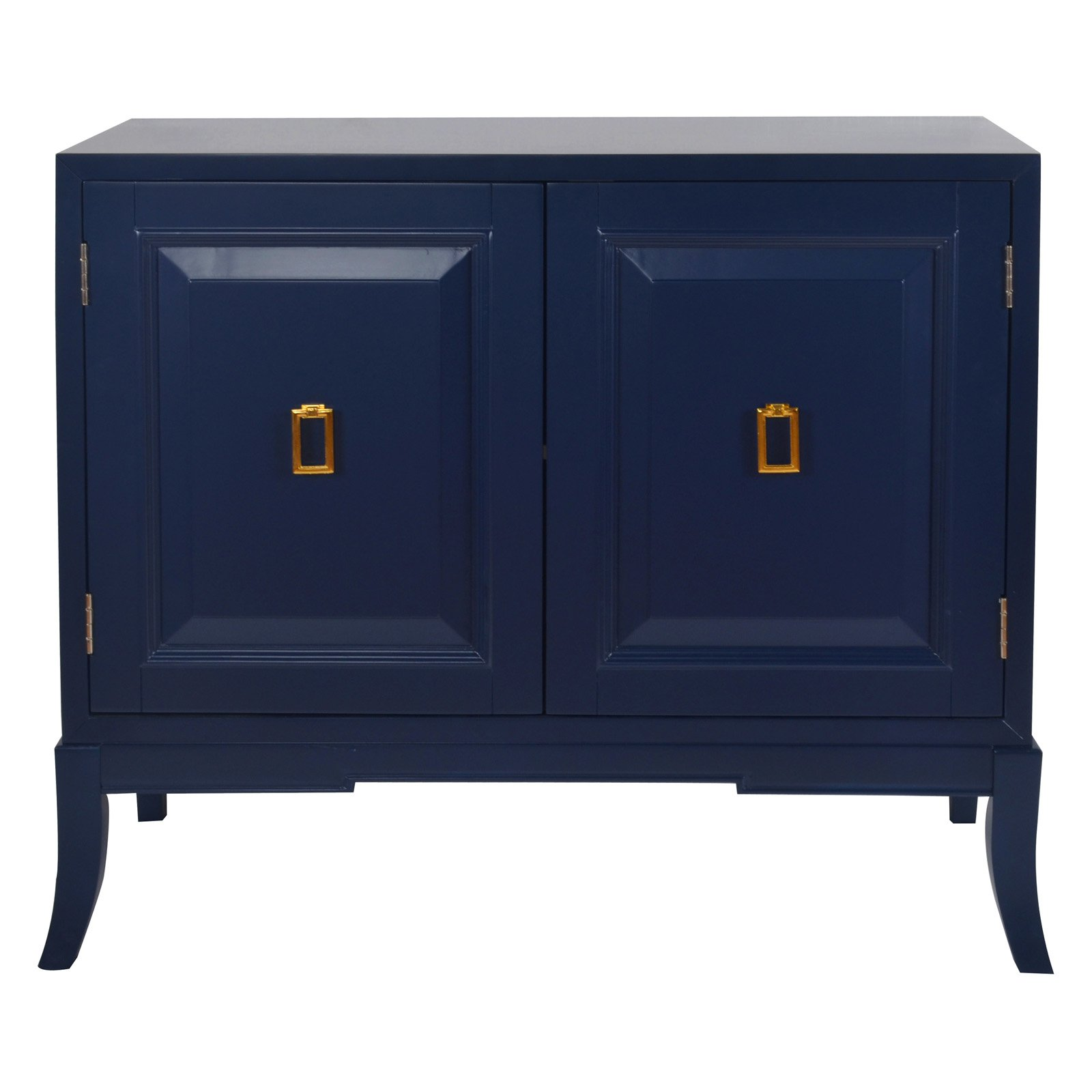 Navy Blue Two Door Accent Chest