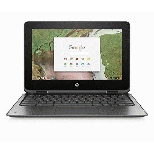 HP 11-AE020NR Smoke Gray 11.6 inch HD Touch Chromebook X360, Chrome/Arc++ OS, Celeron N3350 Processor, 4GB Memory, 32GB eMMC Storage, HD Audio