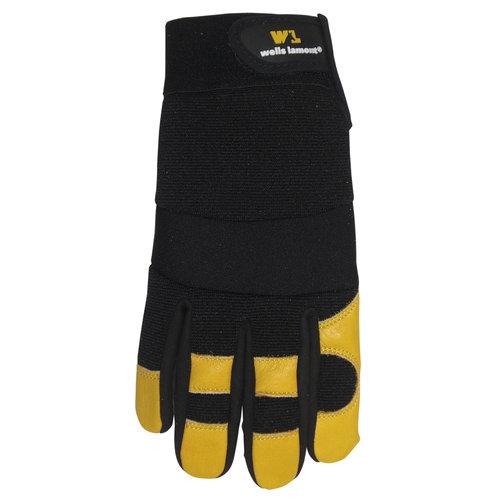 Wells Lamont Men's Calfskin Leather Gloves, Timber/Black