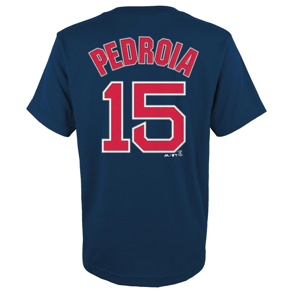 Dustin Pedroia Boston Red Sox Youth Majestic MLB Player Navy T-Shirt