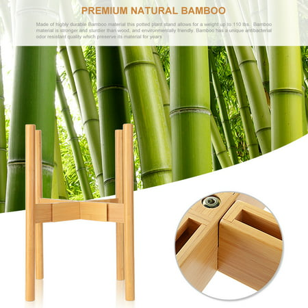 """Sortwise Plant Stand Bamboo Flower Pot Holder Display Rack Stand, Width 8"""" up to 12"""" - image 3 of 8"""