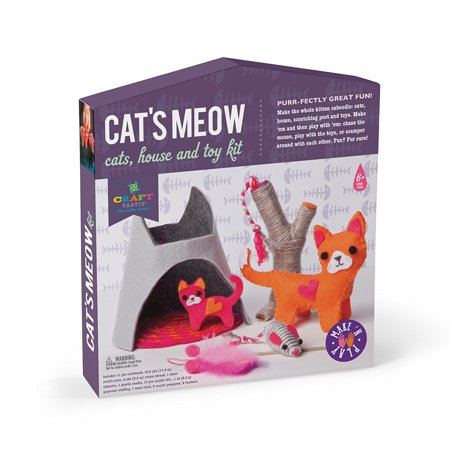Craft Tastic Cat S Meow Make Play Craft Kit Make And Play Kit