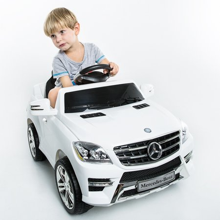 Mercedes Benz ML350 6V Electric Kids Ride On Car MP3 RC Remote Control White