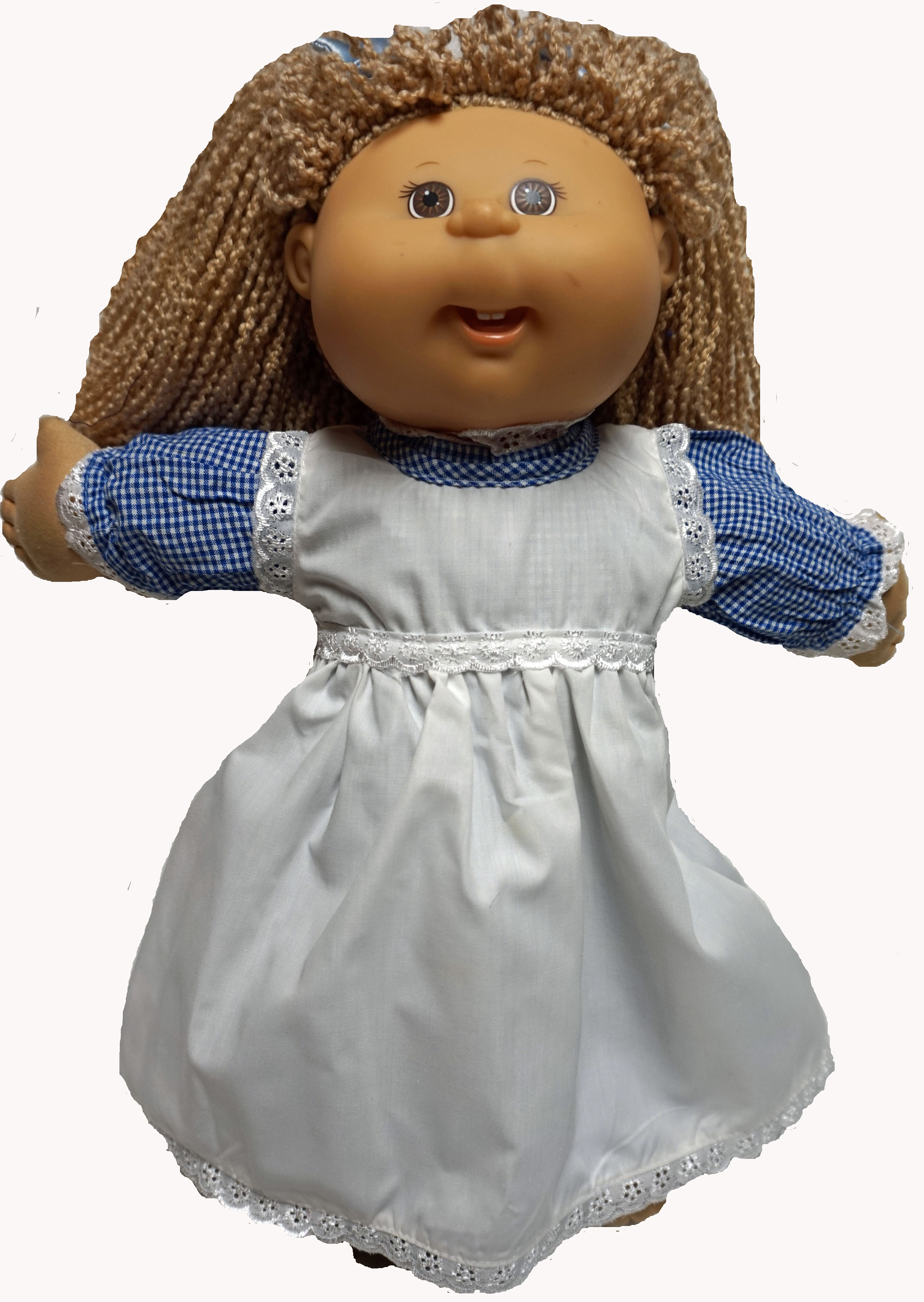 Fits Cabbage Patch Doll And Baby Doll Blue Dress With Pinafore by Doll Clothes Superstore