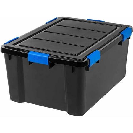 Ziploc 60 Qt Weathershield Storage Box Black Best Buy