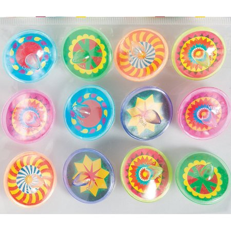 - Fun Express Spin Tops Value Pack - 12 pieces - NEW