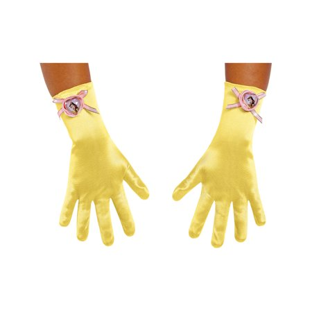 Girls Beauty And The Beast Belle Dress Gloves Costume Accessory