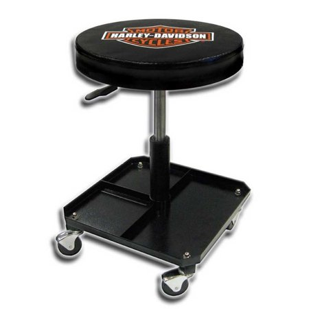 Harley-Davidson Bar & Shield Shop Stool Swivel & Adjusted Seat Height P4766, Harley Davidson