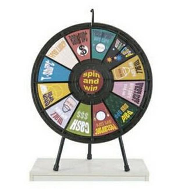 Games People Play 63000 12 Slot Tabletop Prize Wheel Game 31 inch Diameter