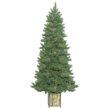 Vickerman Artificial Christmas Tree 7 X 38  Potted Newfield Fir Instant Shape 866 Tips