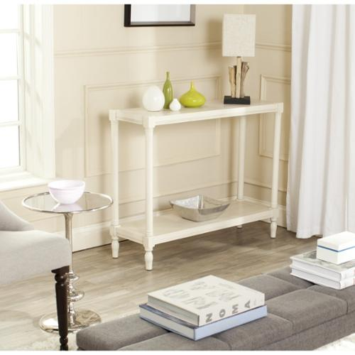 Safavieh Bela White Console Table by Overstock