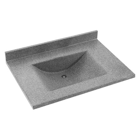Swanstone 37W x 22D in. Contour Solid Surface Vanity Top