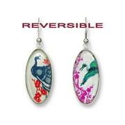 Zarah 09-22-G1 Wings Of The Orient Silver Reversible Earrings