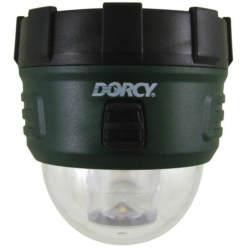 Dorcy 41-4237 Camping Backpack LED Flashlight with Hanging Hook, 18-Lumens, Green Finish
