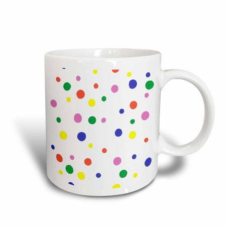 3dRose Colorful Polka Dots, Ceramic Mug,