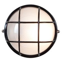 """Access Lighting Nauticus - 7"""" 9W 1 LED Outdoor Bulkhead, Black Finish with Frosted Glass"""