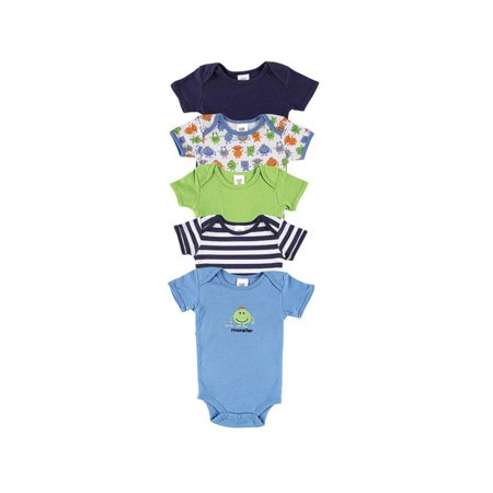 Baby Boys' Bodysuits 5-Pack, Choose Your Color & Size - Baby Boy Halloween Onesies