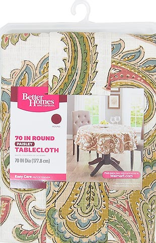 Better Homes /& Garden Paisley Tablecloth 70 Round BH45-054-199-01