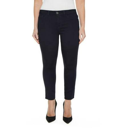 Jordache Women's Plus Size Super Soft Skinny Ankle Jean ()