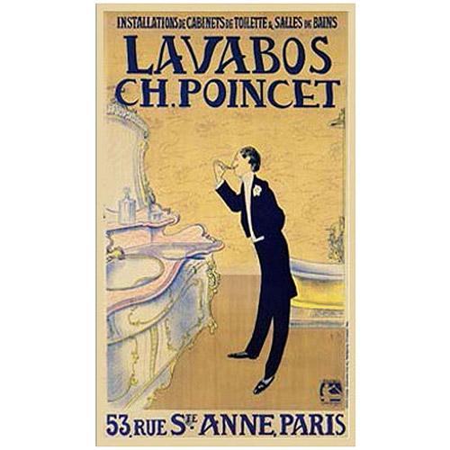"Trademark Fine Art ""Lavabos CH. Poincet"" Canvas Art"