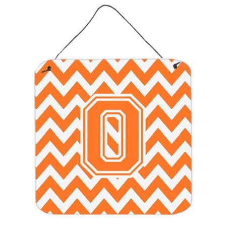 Letter O Chevron Orange & White Wall or Door Hanging Prints - image 1 of 1