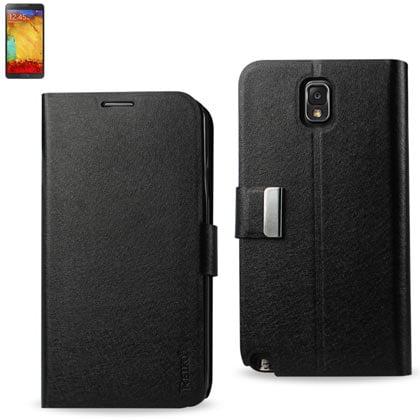 Reiko Samsung Galaxy Note 3 Flip Folio Card Holder Case In Black](cheapest note 3 deals)