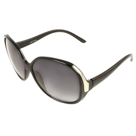 Vintage Oval Fashion Sunglasses Black Frame Purple Black Lenses for Men and Women - Purple Sunglasses Cheap
