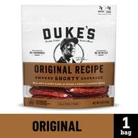 Duke's Original Recipe Smoked Shorty Sausages, Gluten Free Snack, 5 Oz