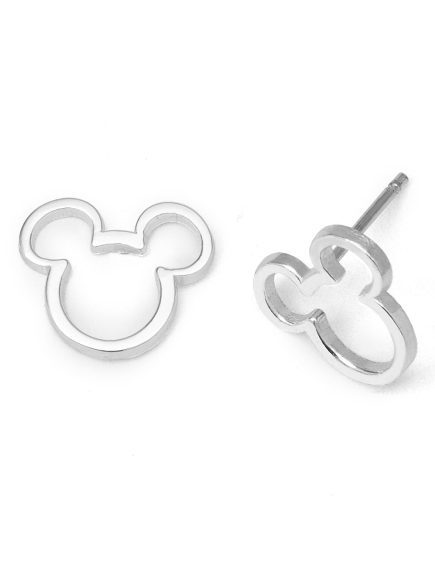 Disney Sterling Silver Mickey Mouse Stud Earrings