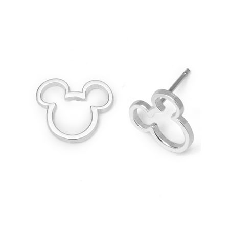 Disney Sterling Silver Mickey Mouse Stud Earrings Classic Mickey Mouse Earrings