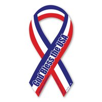 God Bless the USA Red, White, & Blue Mini Ribbon Magnet