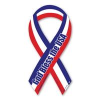 - God Bless the USA Red, White, & Blue Mini Ribbon Magnet
