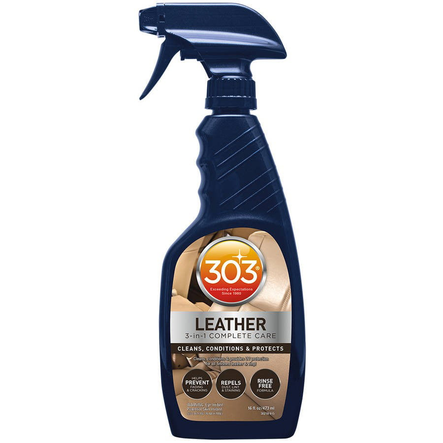 303 (30218) Leather and Vinyl Cleaner, Conditioner, Restorer and UV Protectant, 16 fl oz by 303 Products
