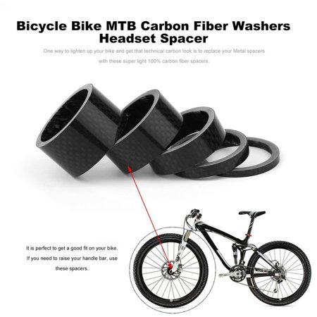 Bicycle Bike MTB Carbon Fiber Washers Headset Spacer 3mm 5mm 10mm 15mm 20mm - image 5 de 7