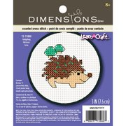 Dimensions Learn-A-Craft Counted Cross-Stitch Kit, Hedgehog
