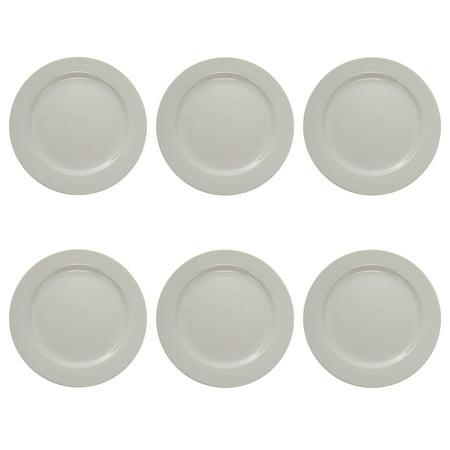 6 Oneida Tundra 10.6 Round Dinner Plates Set Lot Vitrified China ...