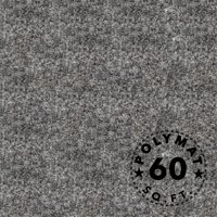 16Ft by 3.75Ft Polymat Charcoal / Dark Grey Nonwoven Felt Fabric Carpet - Multipurpose Backed Felt Fabric for Speakerbox Fabrication
