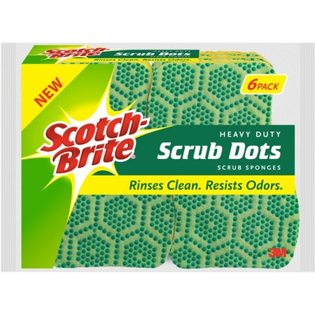 Scotch-Brite Heavy Duty Scrub Dots Scrub Sponge, 6 Count