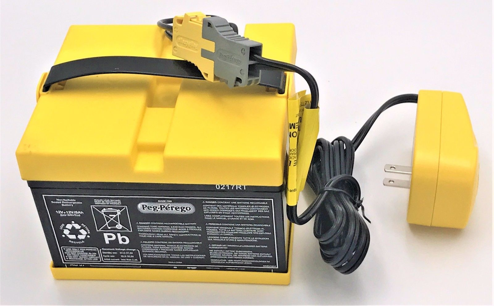 IAKB0529 Peg Perego 24 Volt Yellow Battery and Charger Combo -ONLY FITS IGOD0522 by Peg Perego