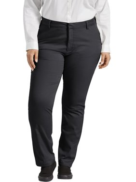 Dickies Women's Plus Perfectly Slimming Curvy Straight Pant